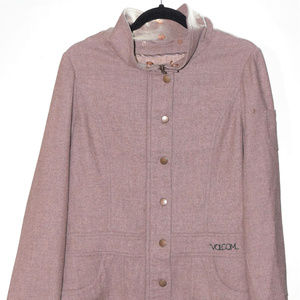 Volcome Stone Small Zip Up Button Front Jacket